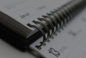 Terminkalender um Termine zu vereinbaren